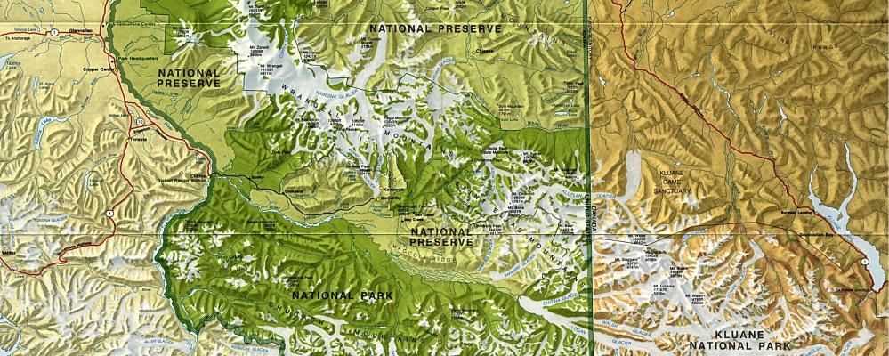 Wrangell St Elias National Park map Guided Alaska Hiking and